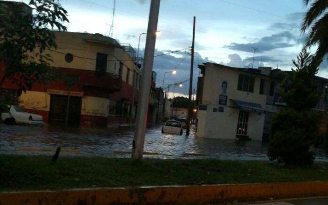 Inundaciones en inmediaciones de Central de Autobuses de Puebla