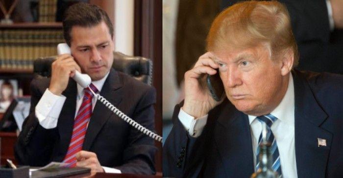 Peña Nieto y Trump intercambian condolencias en llamada telefónica - Foto de Tiempo