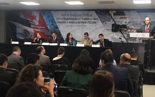 Inicia Secretaría de Economía Foro de Audiencia Públicas sobre el TLC - Foto de @SE_mx