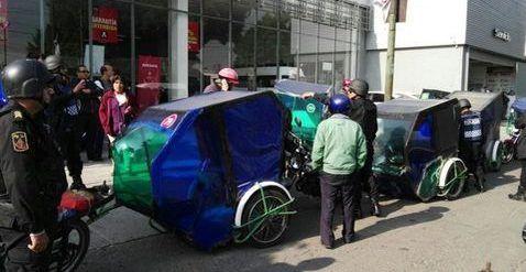 Retiran 26 mototaxis en inmediaciones del AICM - Foto de Milenio