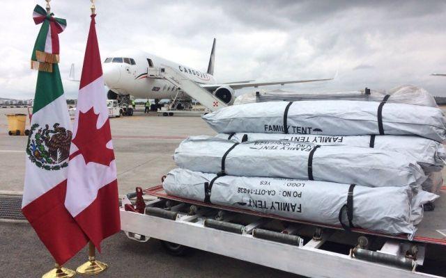 Canadá envía mil 500 casas de campaña para afectados por sismo
