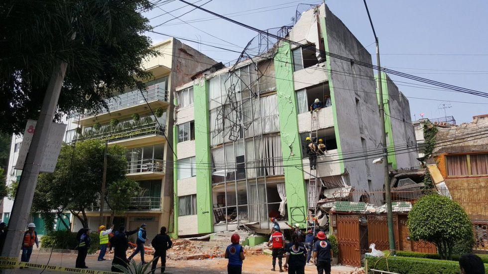 Reconstrucción por sismos va al 70 %; concluirá a más tardar en 2022 - Daños en edificio de la alcaldía Benito Juárez por sismo del 19 de septiembre de 2017, Foto de @DelegacionBJ