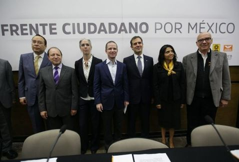 PAN, PRD y MC registran el Frente Ciudadano por México ante el INE - Foto de Omar Franco