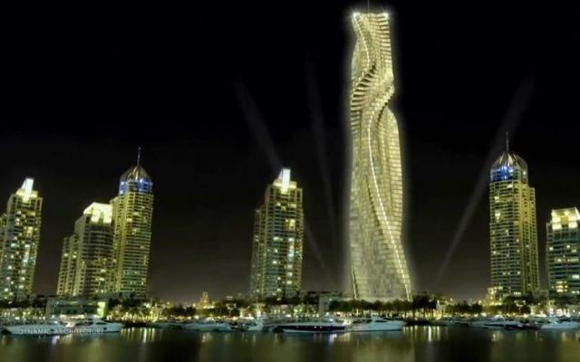 Construirán en Dubai el primer rascacielos giratorio del mundo - Captura de pantalla
