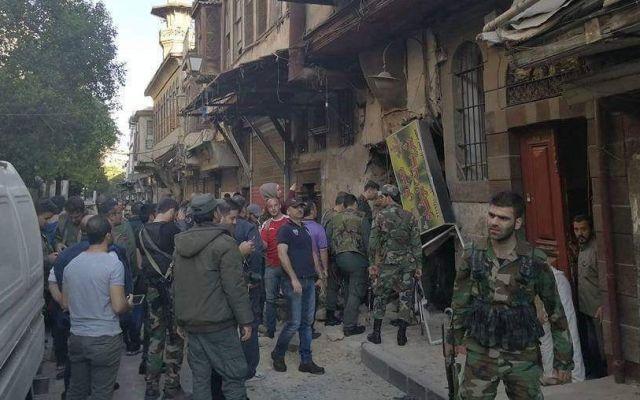 Triple atentado suicida en Damasco deja dos muertos - Foto de Twitter