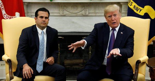 Trump califica con 10 respuesta a crisis en Puerto Rico - Foto de Internet