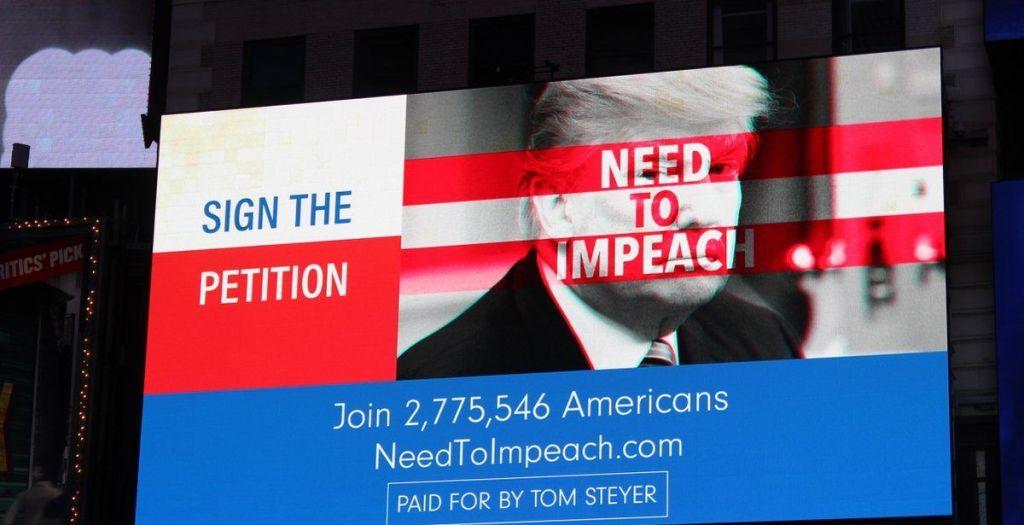 Campaña para destituir a Trump se proyecta en el Times Square - Foto de Notimex