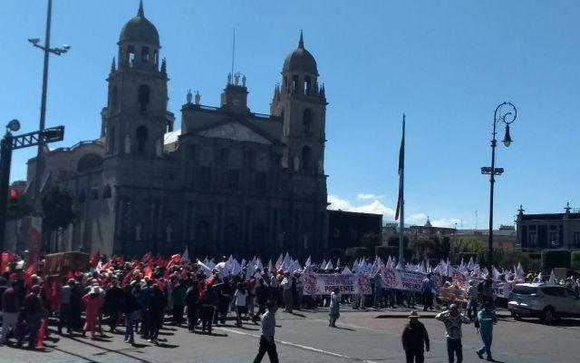 #Video Manifestación de campesinos en Toluca
