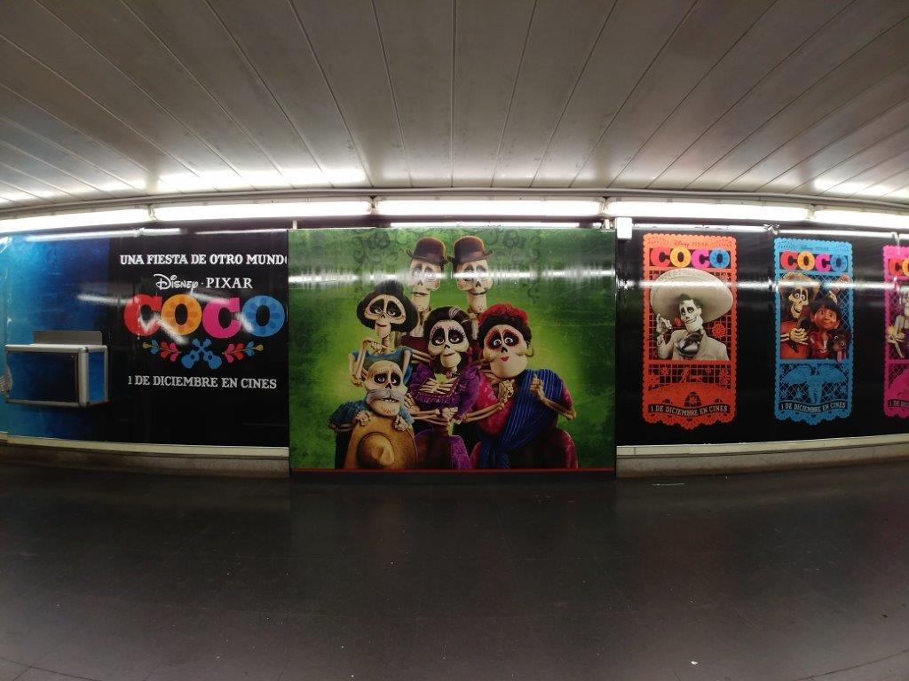Metro de Madrid exhibe imágenes de 'Coco' - Foto de Metro Madrid