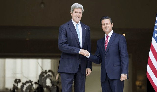 Enrique Peña y John Kerry conversan acerca de diversidad biológica - Foto de internet