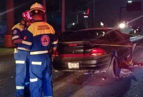 Muere conductor al chocar contra muro en Nuevo León - Foto de Milenio/Lourdes Soler