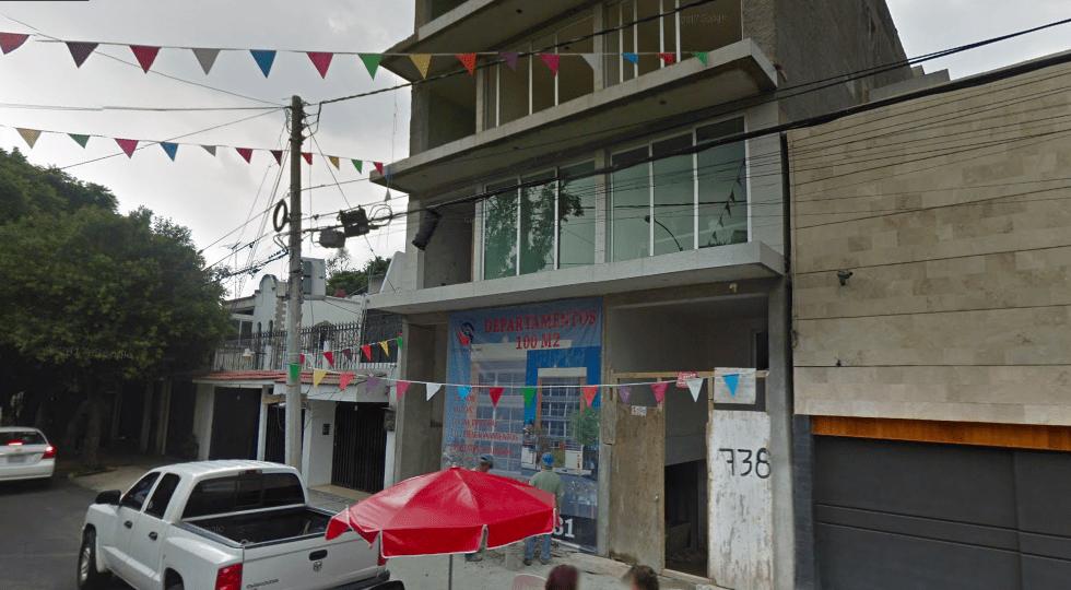 Roban departamentos en construcción en la Narvarte - Pestalozzi 738. Captura de Pantalla