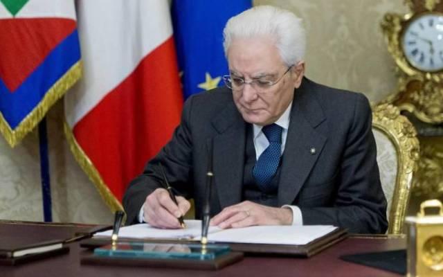 Presidente de Italia disuelve Parlamento y convoca a elecciones