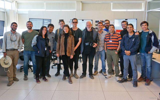 David Gilmour visita observatorio en Chile