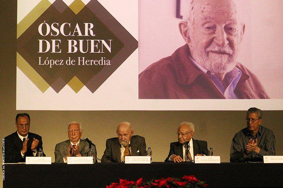 Óscar de Buen recibe Medalla Bellas Artes 2017