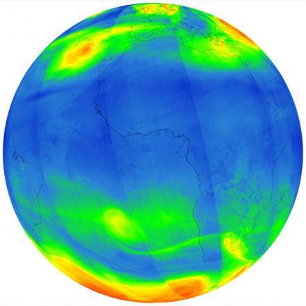 Imágenes espaciales de la grave contaminación de La Tierra