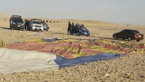 Muere turista tras caída de globo aerostático en Egipto