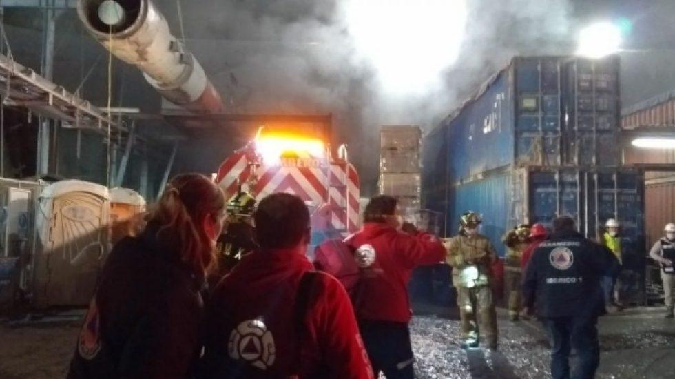 Incendio en obra de Tren Interurbano deja más de 20 intoxicados - Incendio Tren Interurbano