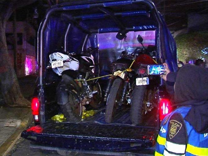 Tres motociclistas detenidos por arrancones en Viaducto - Foto de Excélsior