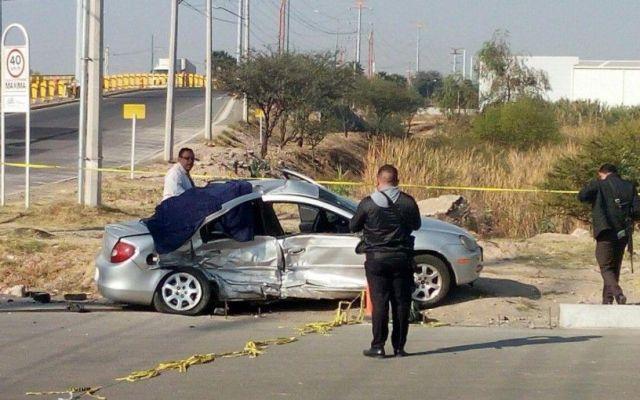 Mueren tres queretanos por choque en Irapuato - Foto: Periódico Correo