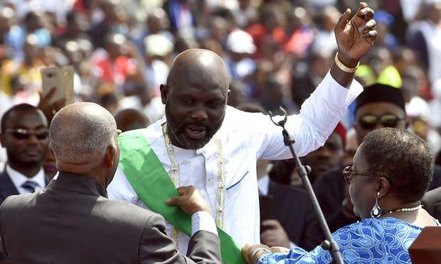 George Weah asume presidencia de Liberia - Foto de The Guardian