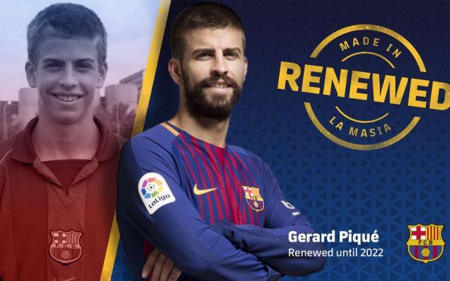 Piqué renueva con el Barcelona hasta 2022 - Foto de Internet