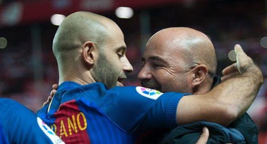 Mascherano y Sampaoli se reúnen en Barcelona