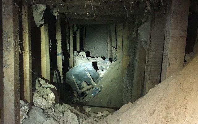 Encuentran túnel abandonado en la frontera con EE.UU.