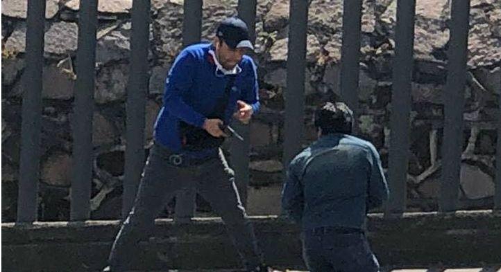 Captan asalto en inmediaciones de Mundo E - Foto de Facebook