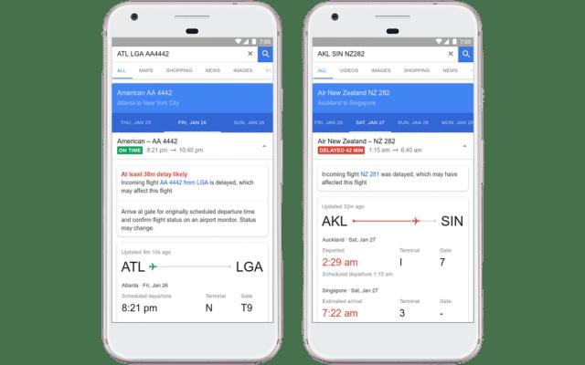 Google Flights predice retrasos en vuelos - Foto de Google