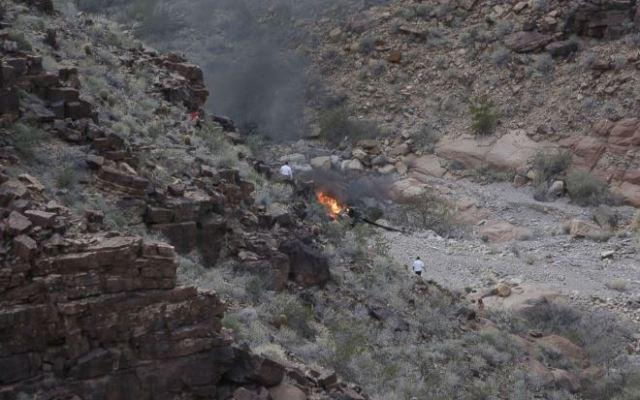 Tres muertos al caer helicóptero en el Gran Cañón - Foto de @ABC.