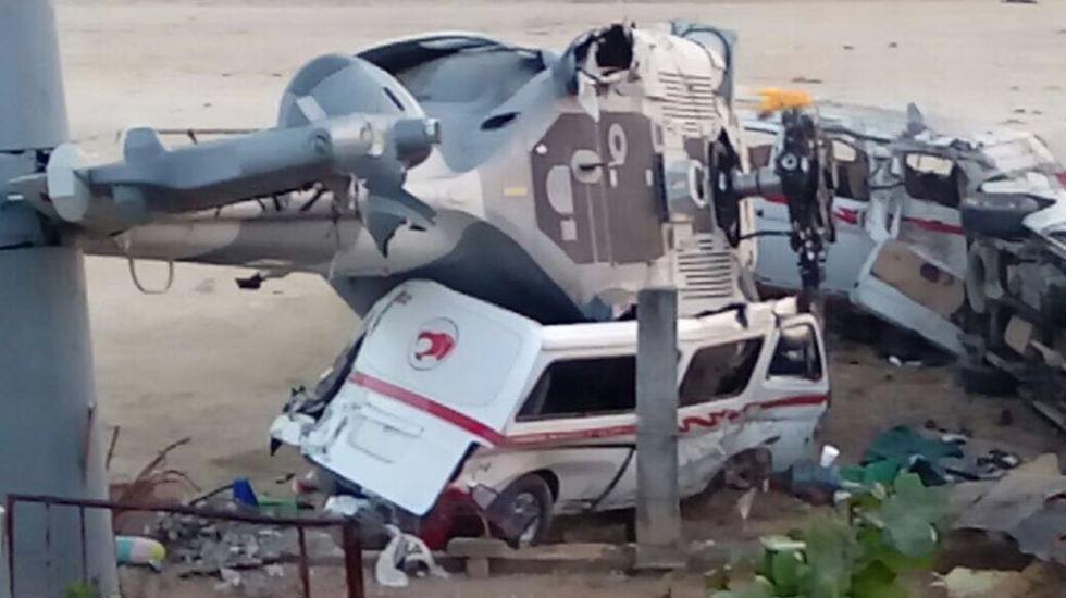 #VIDEO El momento en que helicóptero de Sedena cae