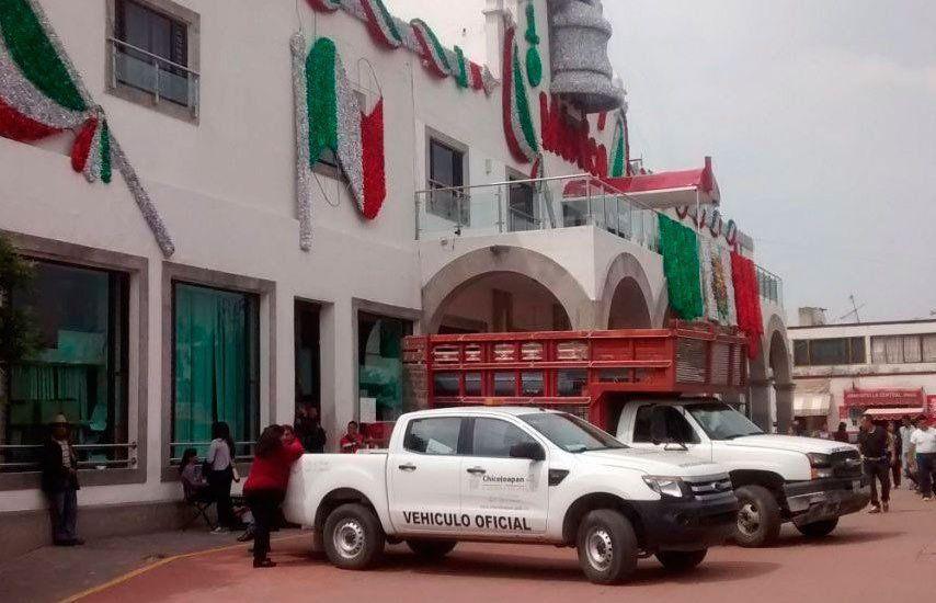 San Vicente Chicoloapan lleva cinco meses sin Palacio Municipal - Foto de @ordenapolitico