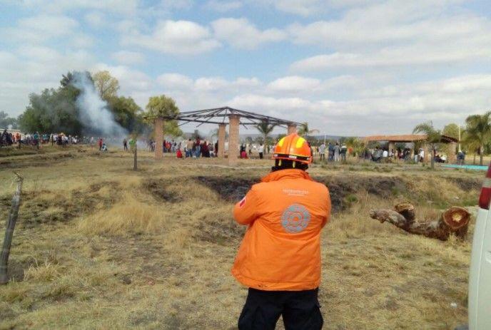 """Festividad de """"San Juanito"""" en Celaya deja 64 heridos - Foto: @PC_GTO"""