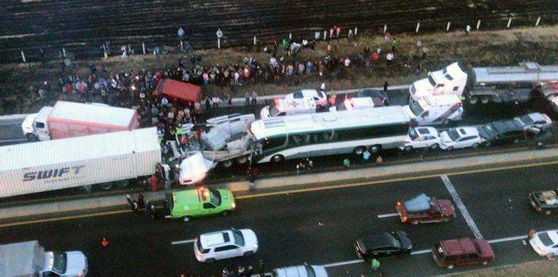 Carambola en libramiento Toluca-Lerma deja 15 heridos
