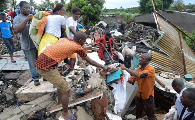 Colapso de montaña de basura en Mozambique deja 17 muertos - Foto de Internet