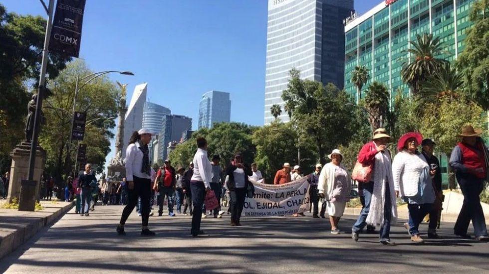 Las concentraciones de este viernes en la Ciudad de México - Foto de Jonathan Del Moral