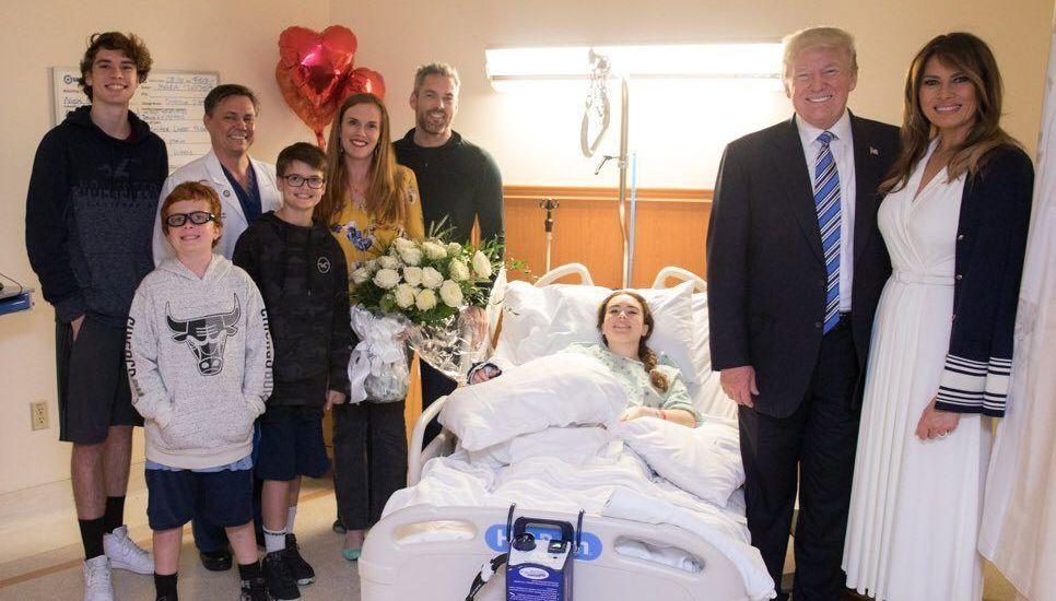 Trump visita a sobrevivientes de masacre en Florida - Foto de @realDonaldTrump