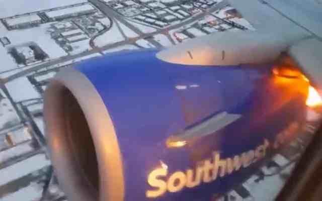 #Video Explota motor de avión de Southwest Airlines durante vuelo - Captura de Pantalla