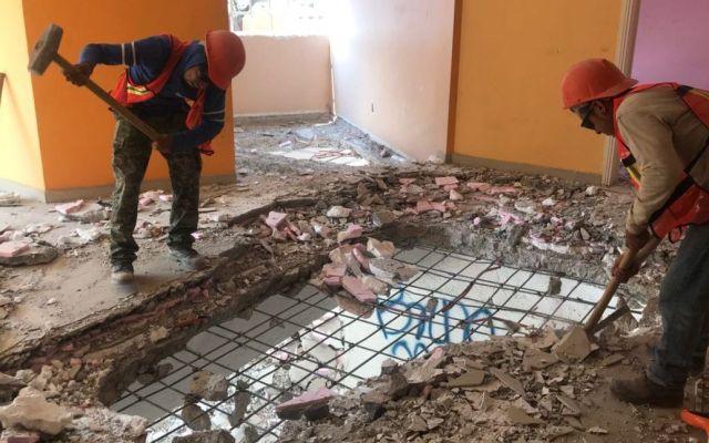 Concluye demolición de edificio en Tlalpan