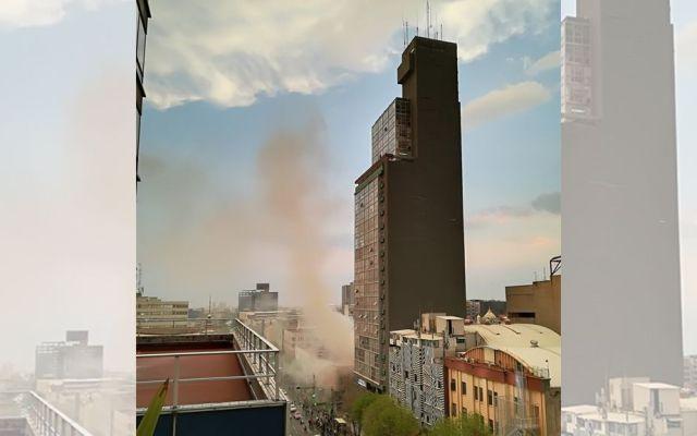 Explotan mufas sobre Eje Central - Foto de @Fabs_Va