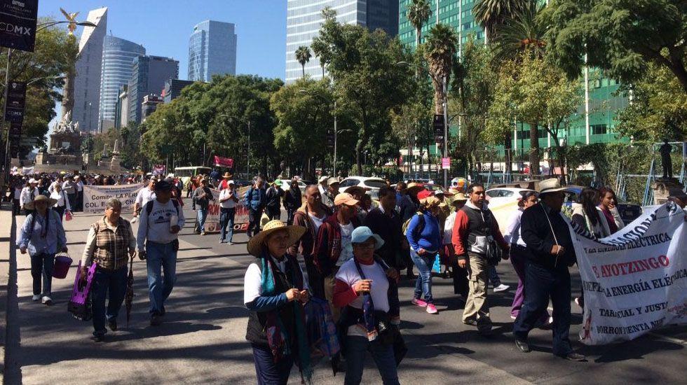 Al menos tres marchas en la Ciudad de México - Foto de Jonathan Del Moral