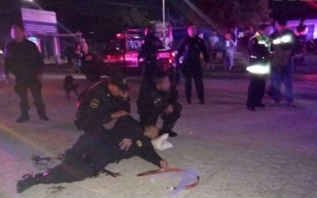 Dos policías heridos en Tultitlán al impedir un robo - Foto: @SS_Edomex.