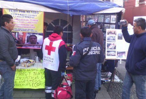 Se agrava salud de extrabajador del SME en huelga de hambre - Foto de Milenio