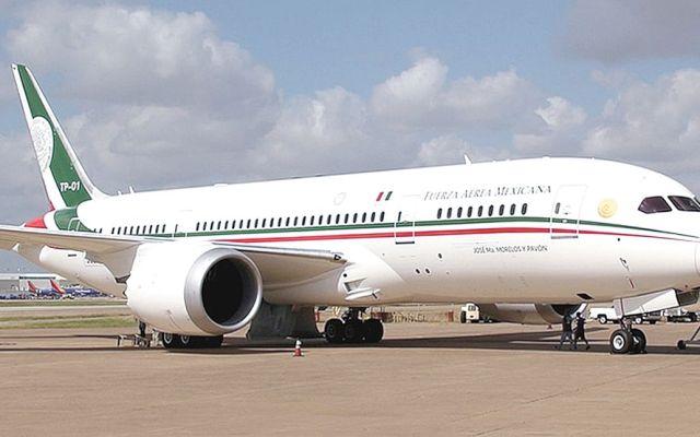 Falla el avión presidencial antes de viaje a cumbre en Puerto Vallarta - Avión Presidencial de México. Foto de Internet
