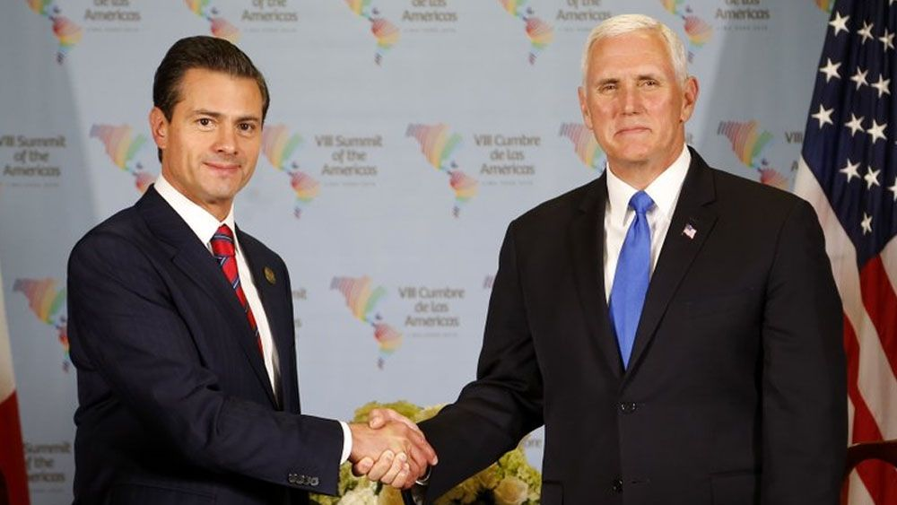 EPN pide respeto mutuo durante reunión con Pence - Foto de AP