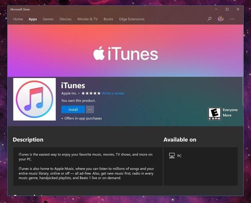 Llega iTunes a la Microsoft Store - Foto de internet