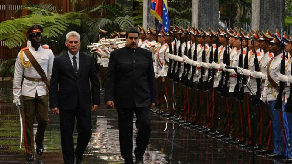 Nuevo presidente de Cuba recibe a Nicolás Maduro
