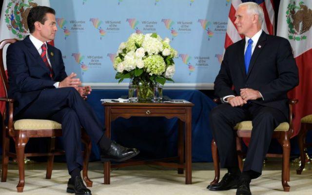 Acuerdan Peña Nieto y EE. UU. acelerar trabajos para actualización de TLCAN - Foto: Facebook Enrique Peña Nieto.