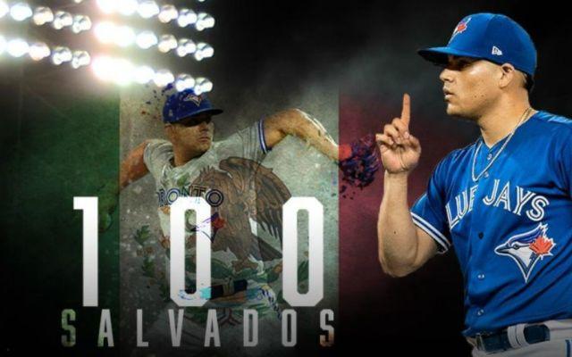 Osuna es el beisbolista mas joven en la historia de MLB en alcanzar 100 salvamentos - Foto: @LasMayores.